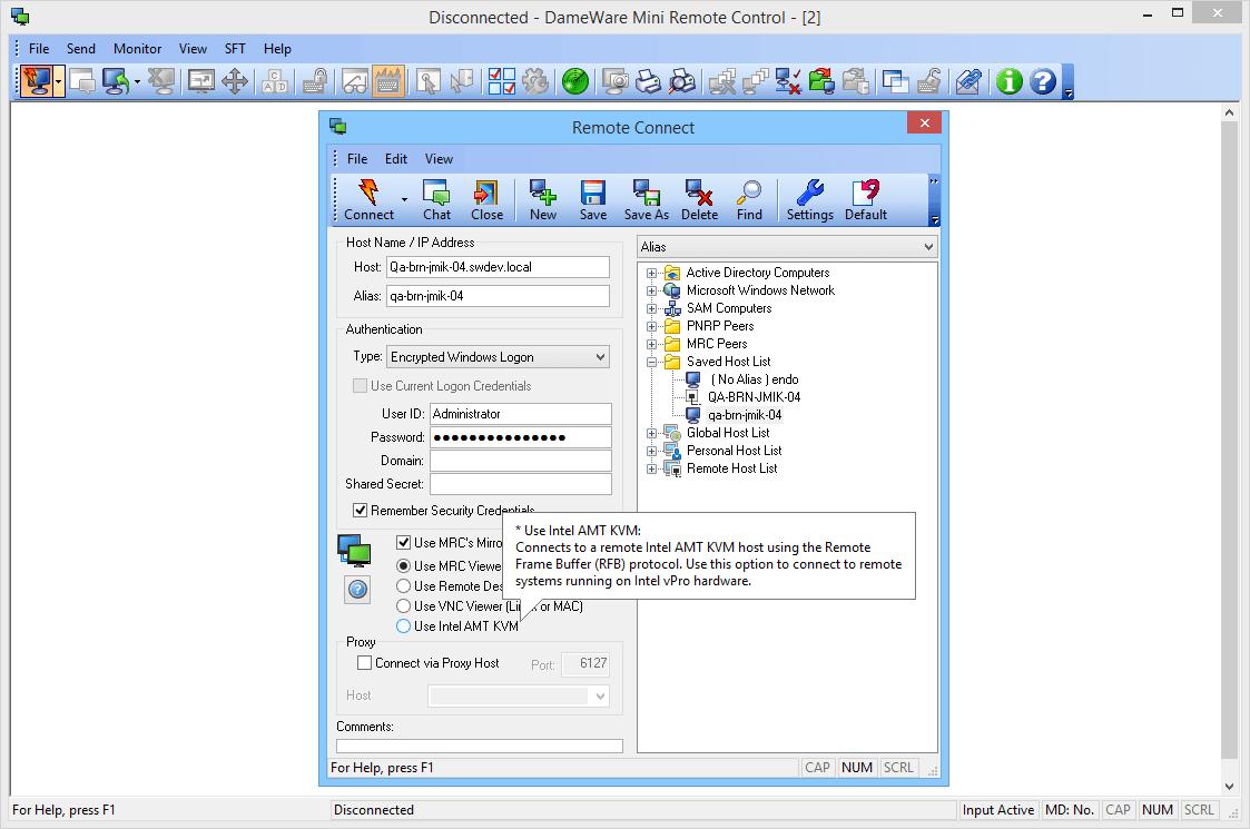DameWare Mini Remote Control | Unipress Software