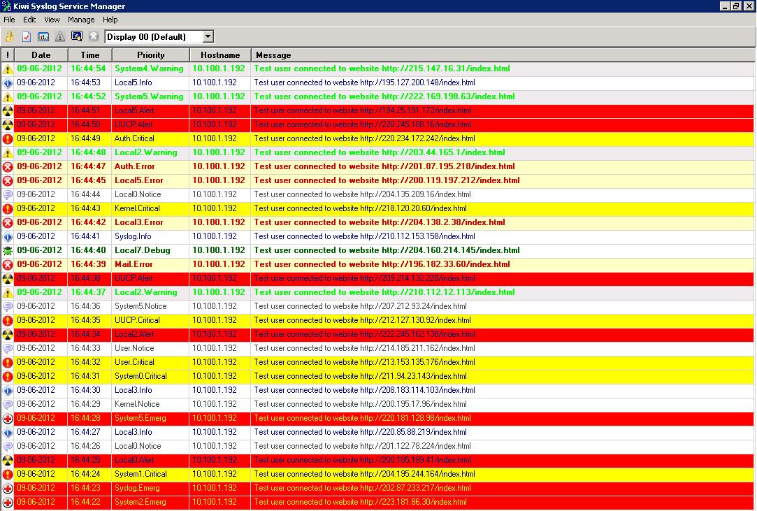 Kiwi Syslog Tool   Unipress Software
